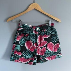 American Apparel Watermelon Denim Shorts, Sz 26/27